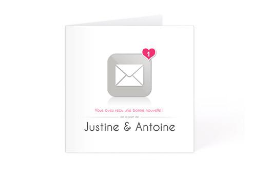 12 Faire-part mariage ´´Bonne nouvelle´´