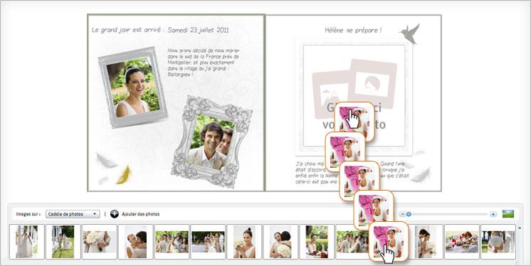 glissez dposez vos photo sur votre livre photo facile mariage - Livre Sur Le Mariage