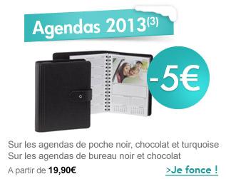 -5€ sur vos agendas 2013 !