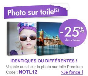 -25% dès 2 photos sur toile !