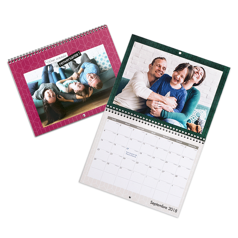 Calendrier A4 double