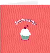 Carte d' anniversaire Surprise Party