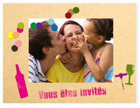 Carte d' anniversaire Let's Go Party