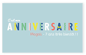Carte d' anniversaire Happy