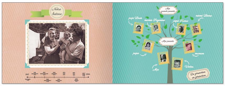 livre photo personnalisé arbre famille