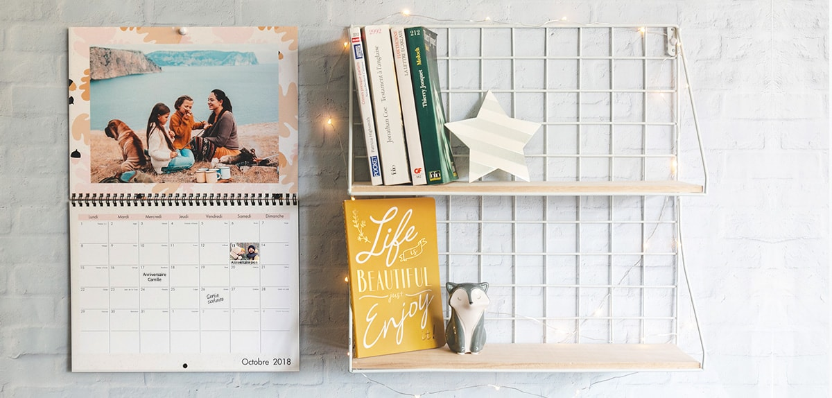 Calendrier Perpetuel Personnalise 365 Jours.Calendrier A4 Double