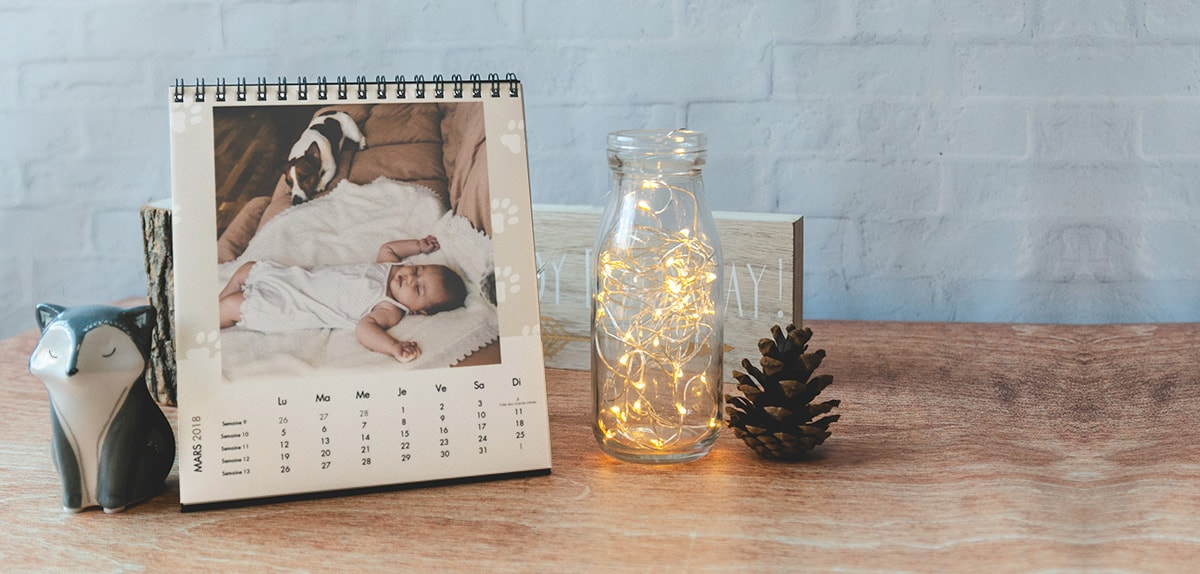 calendriers photos pas cher