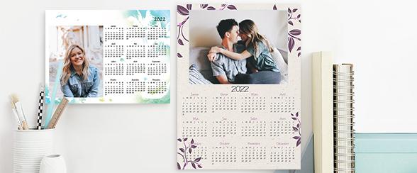 calendrier monopage format