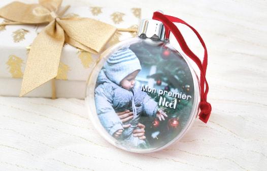 Boule de Noël personnalisée | Photoweb