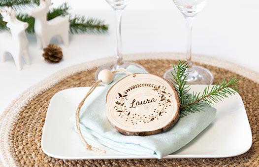 Décoration de Noël en bois