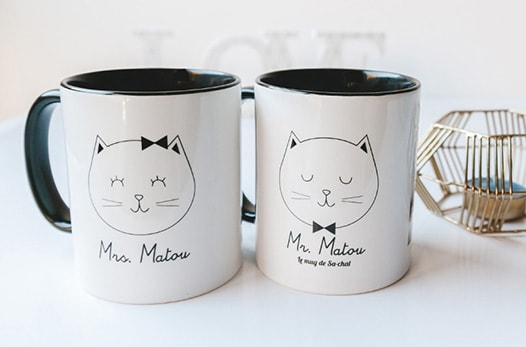 mug monsieur et madame chat