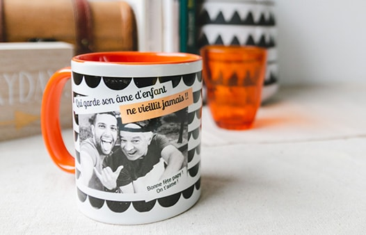 mug couleur orange