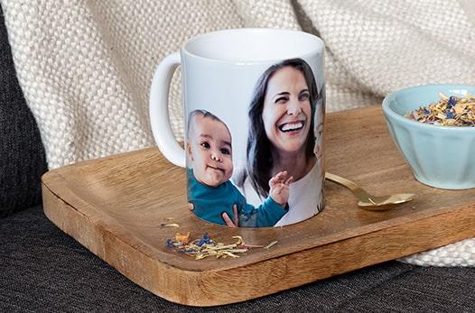 mug personnalisé à pois
