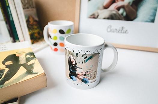 mug à pois