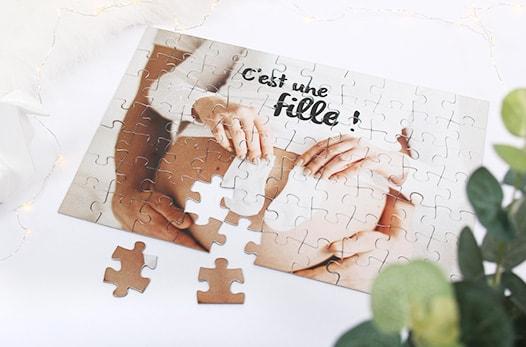 puzzle personnalisé grossesse
