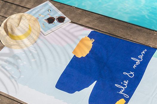 serviette personnalisée photo