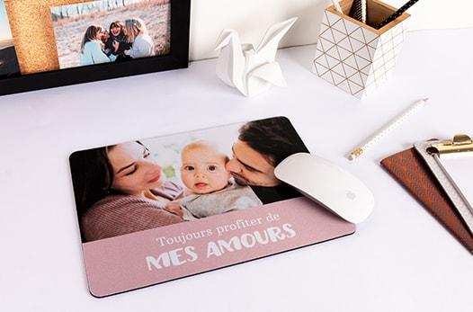 tapis de souris avec bébé