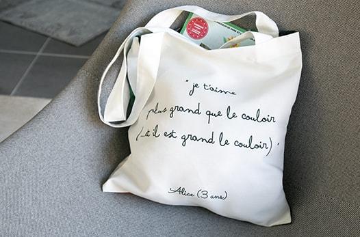 sac en toile à personnaliser