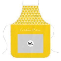 tablier personnalisé jaune