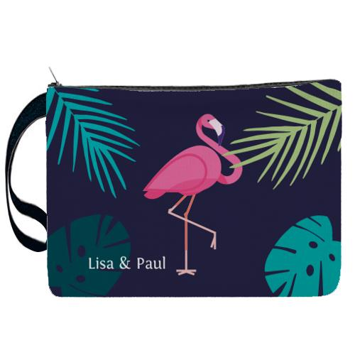 Pochette flamand rose