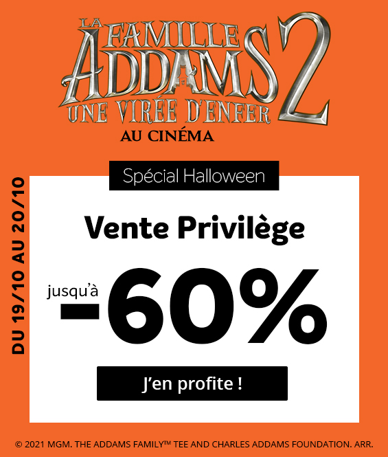 Vente privilège Famille Addams 2
