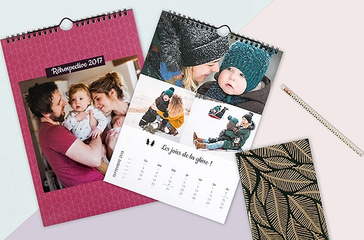 impression calendrier photo