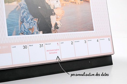 calendriers de bureau photo