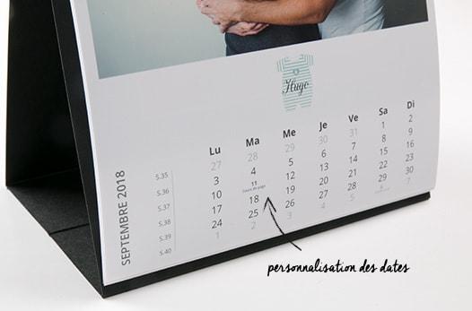 calendrier photos pas cher