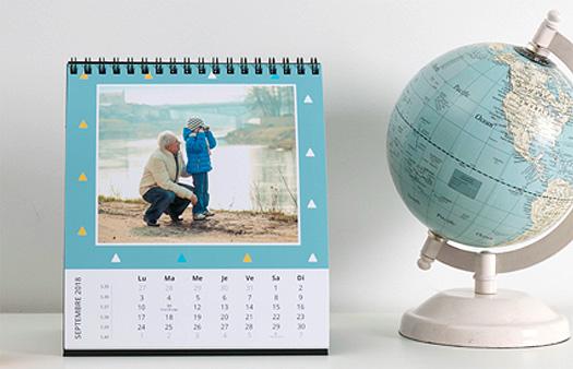Calendrier photo pas cher : optez pour le calendrier bureau mensuel
