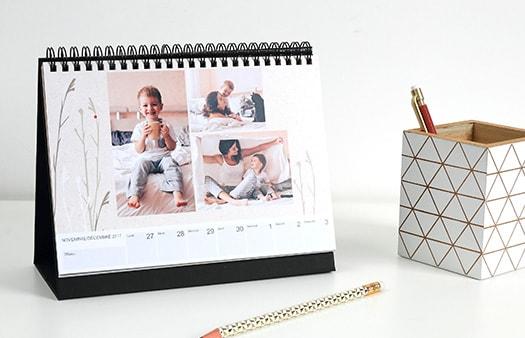 Calendrier hebdomadaire optez pour le calendrier bureau avec vos photos - Calendrier photo de bureau ...