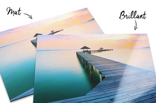 tableau photo mat brillant